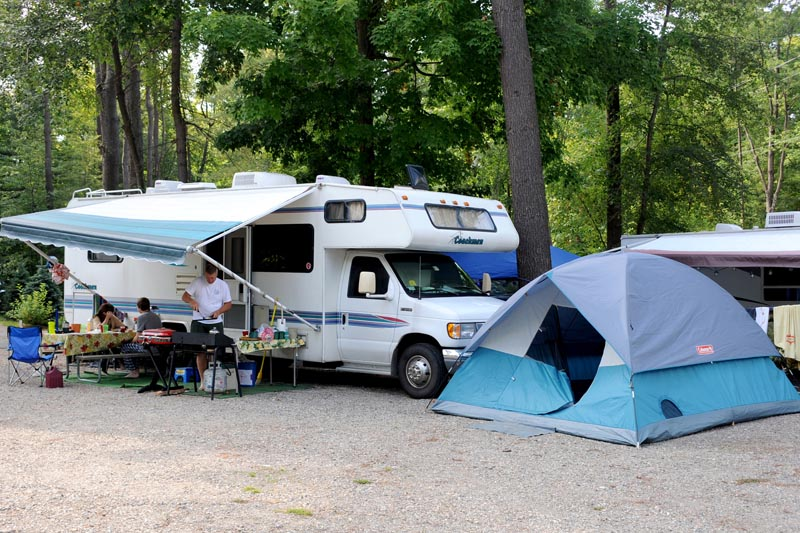 All campsites include 50/30 amps, cable, water, sewer, electric and Wi-Fi