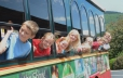 Riding the Trolley around the park is a favorite family activity
