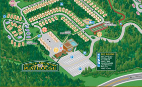 Lake George RV Park Map