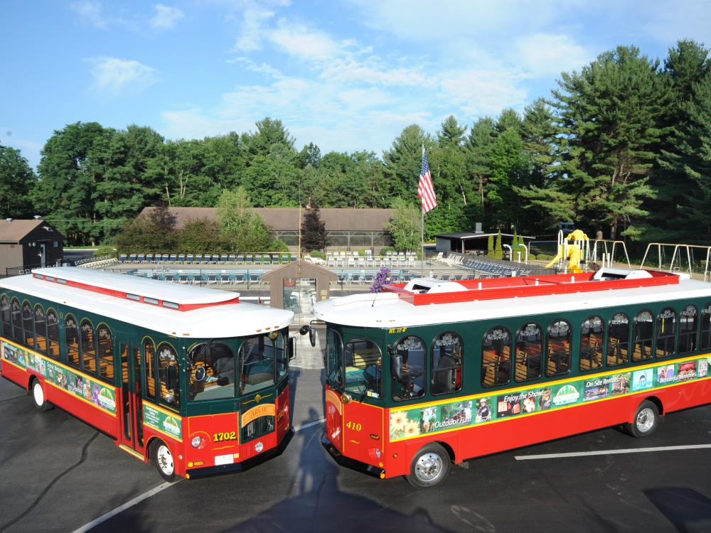 Which one of our park trolleys is your favorite, Charlie II or Arvie?