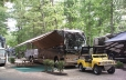 Spacious sites to fit RV's, up to 2 vehicles and a tent
