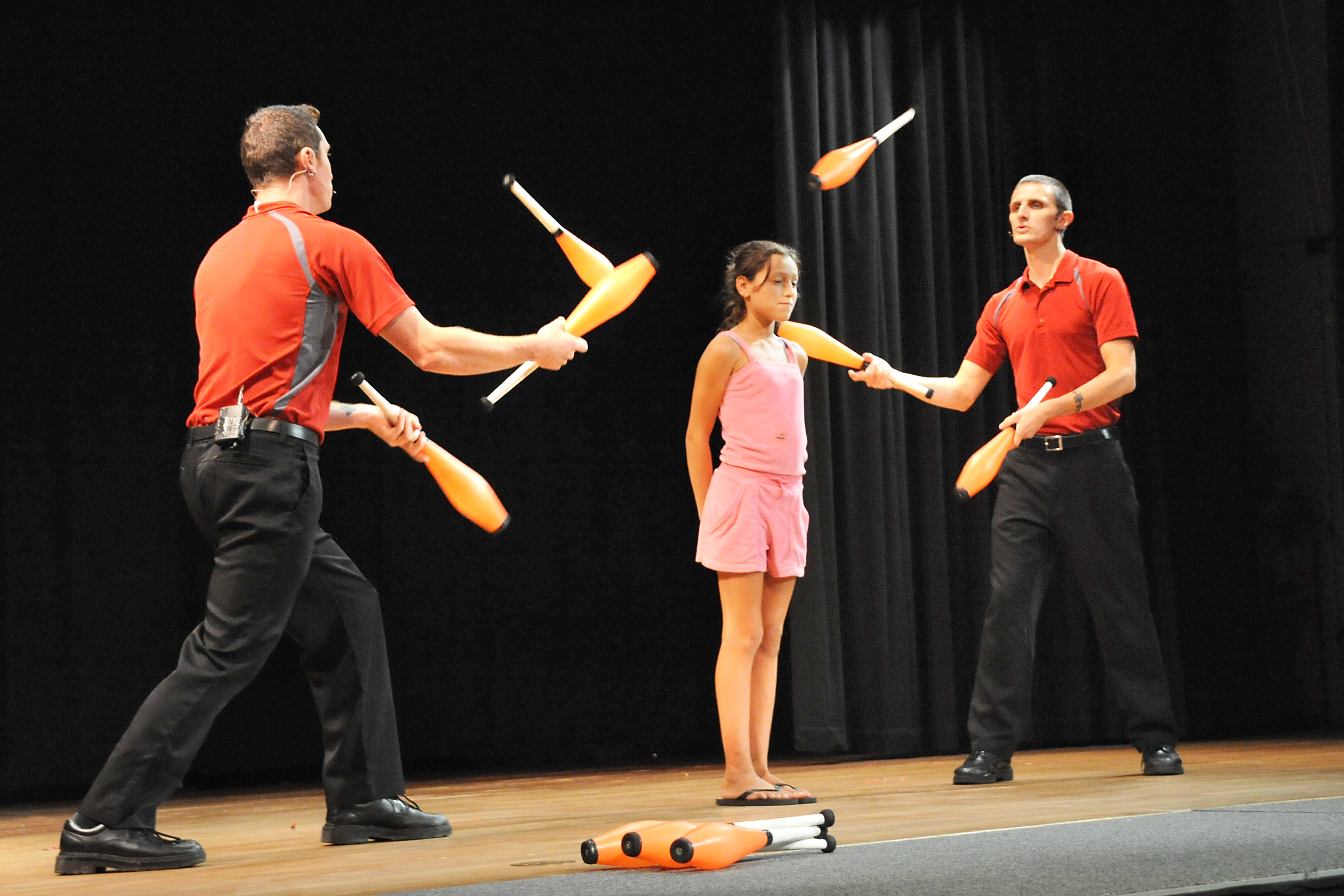 Are you daring enough to be in the middle of a juggling act?
