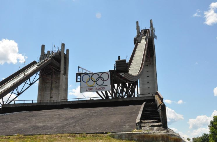 Take a day trip to Lake Placid – visit the ski jumps & Olympic Center