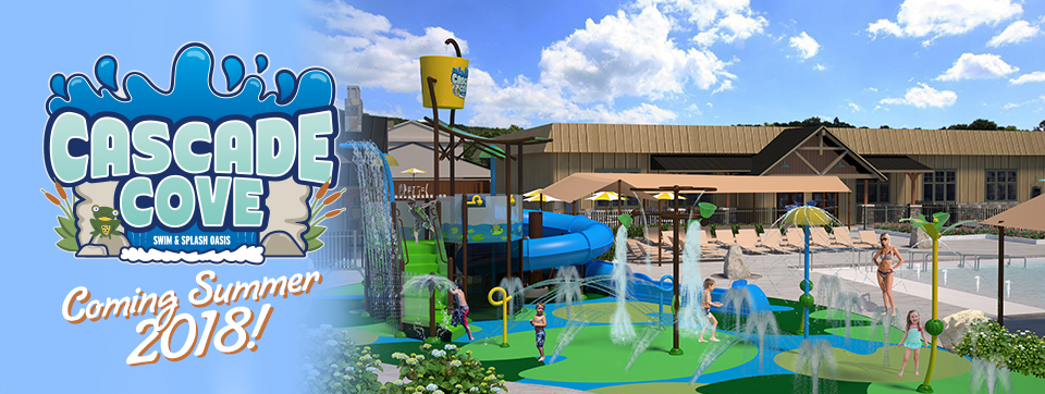 Cascade Cove Rendering of splash pad area, coming summer 2018
