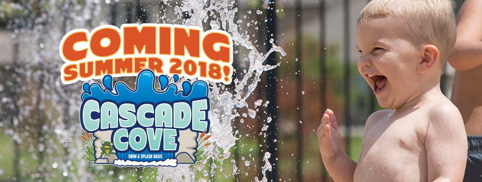 Cascade Cove, boy with spray fountain coming 2018
