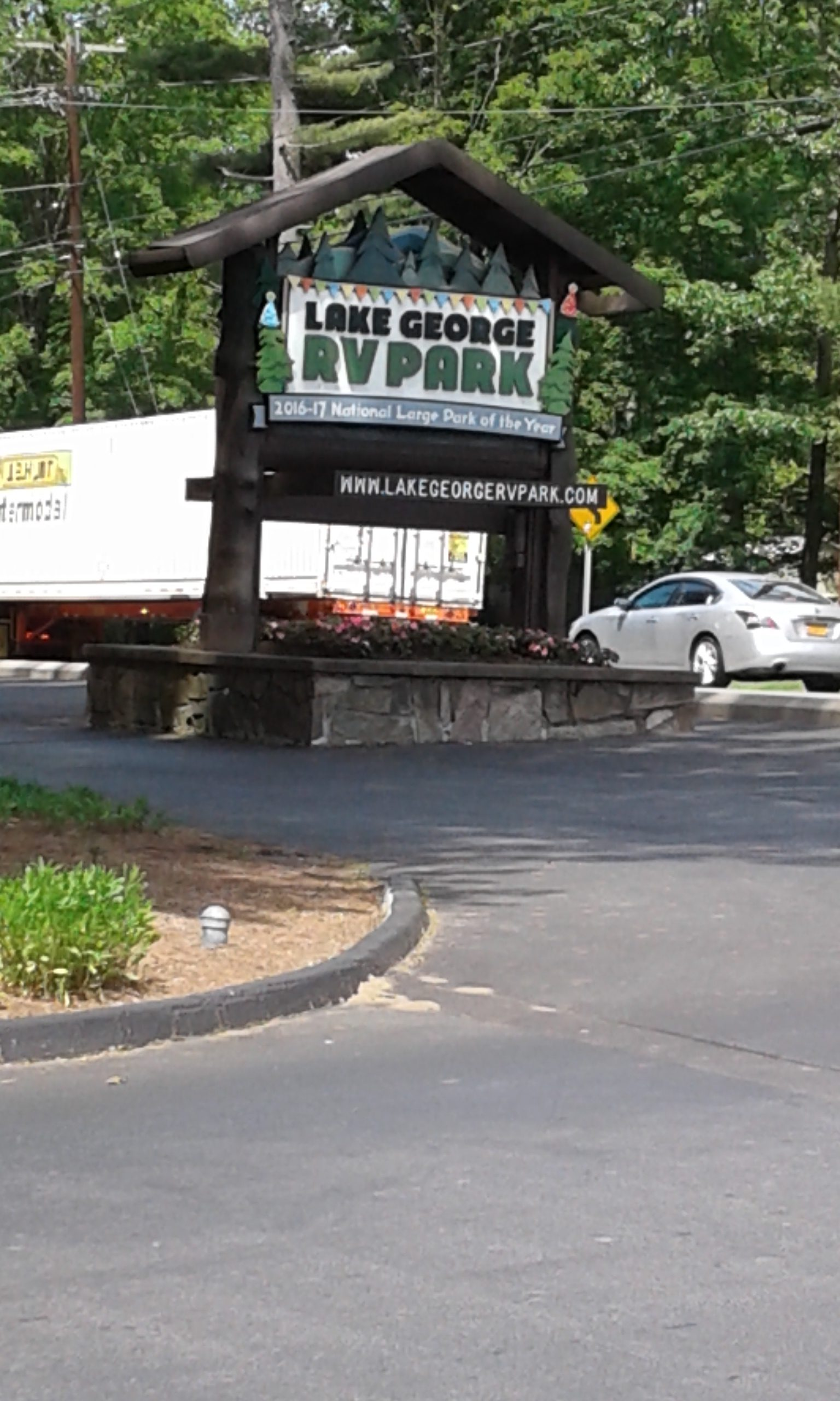 Lake George RV Park sign