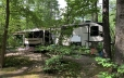 RV trailer in camping site
