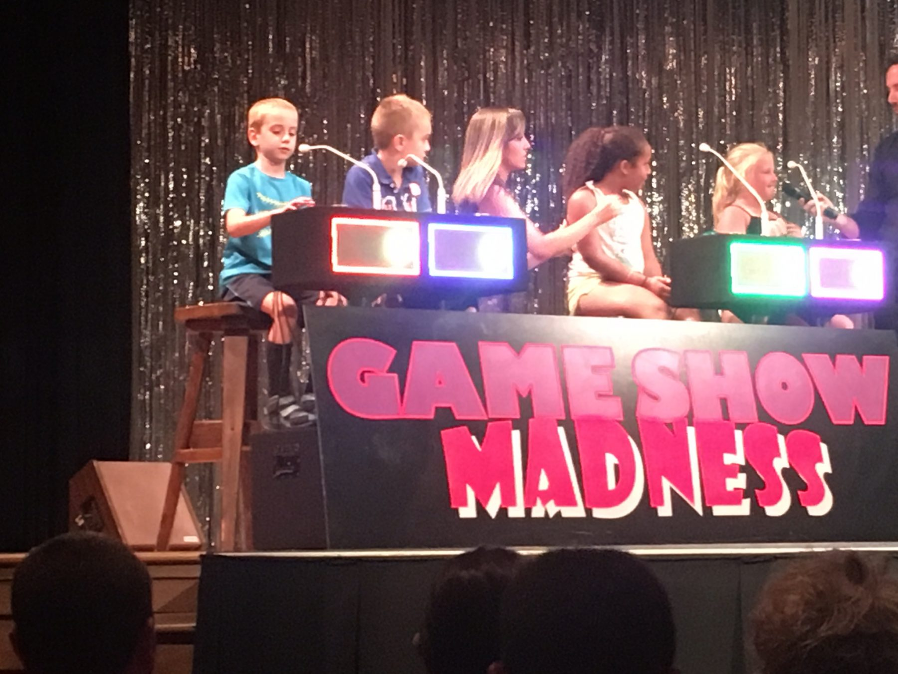Kids on stage for game show