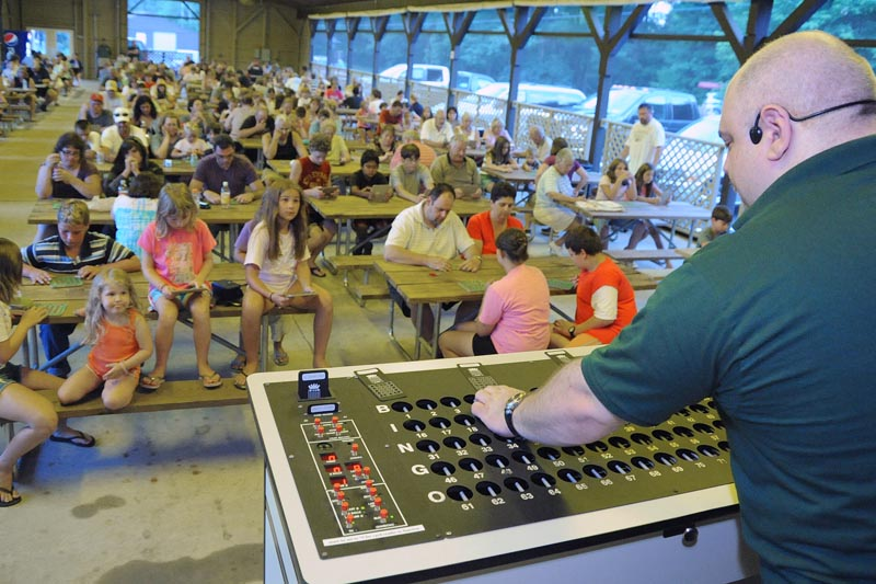 Nightly Bingo in our main entrance pavilion