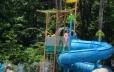 Waterslide and splash bucket