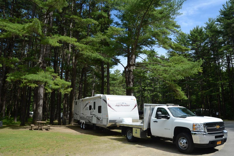 Towing services are applicable to 5th Wheels, Travel Trailers and Pop-ups
