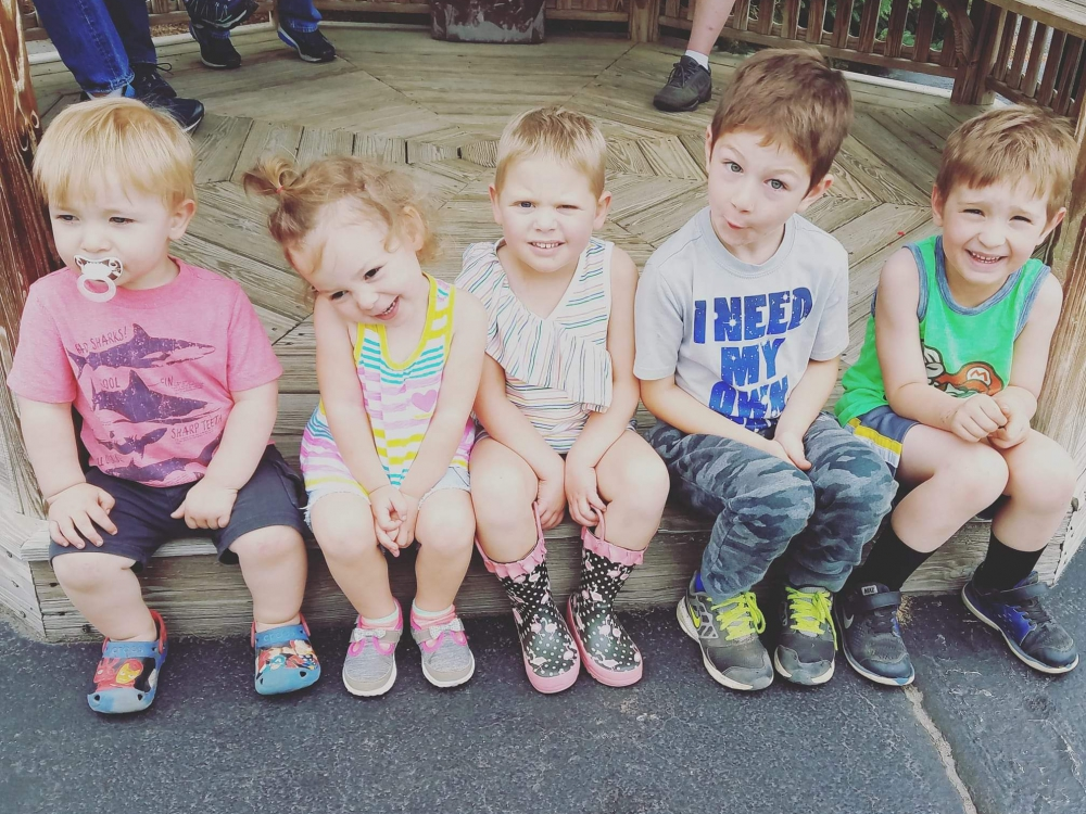 Group of Kids Waiting on the trolley