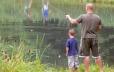 Stocked Bass Fishing Pond