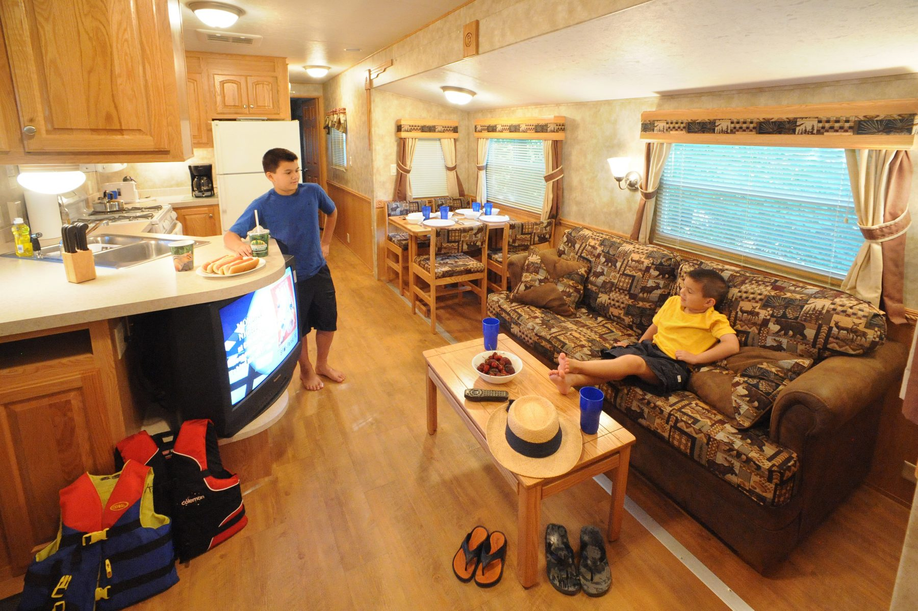 Rental units are 40 feet long with 2 bedrooms, a full bathroom & kitchenette