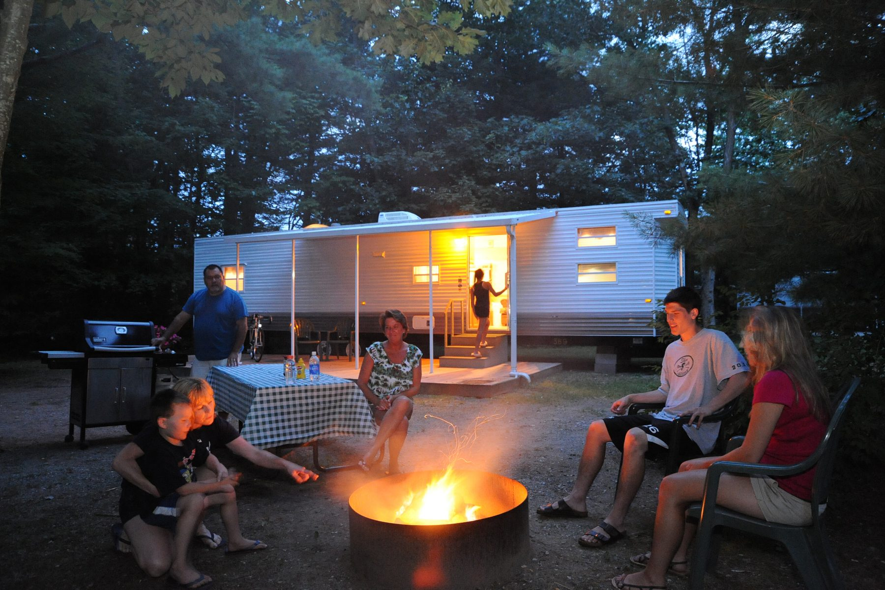 All rental units include fire ring, picnic table, & outside seating