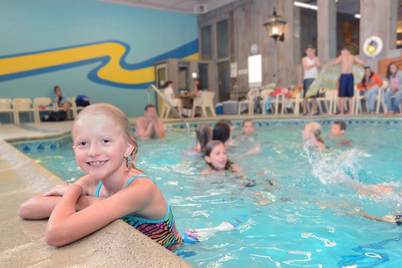 Heated east end indoor pool open daily all season long