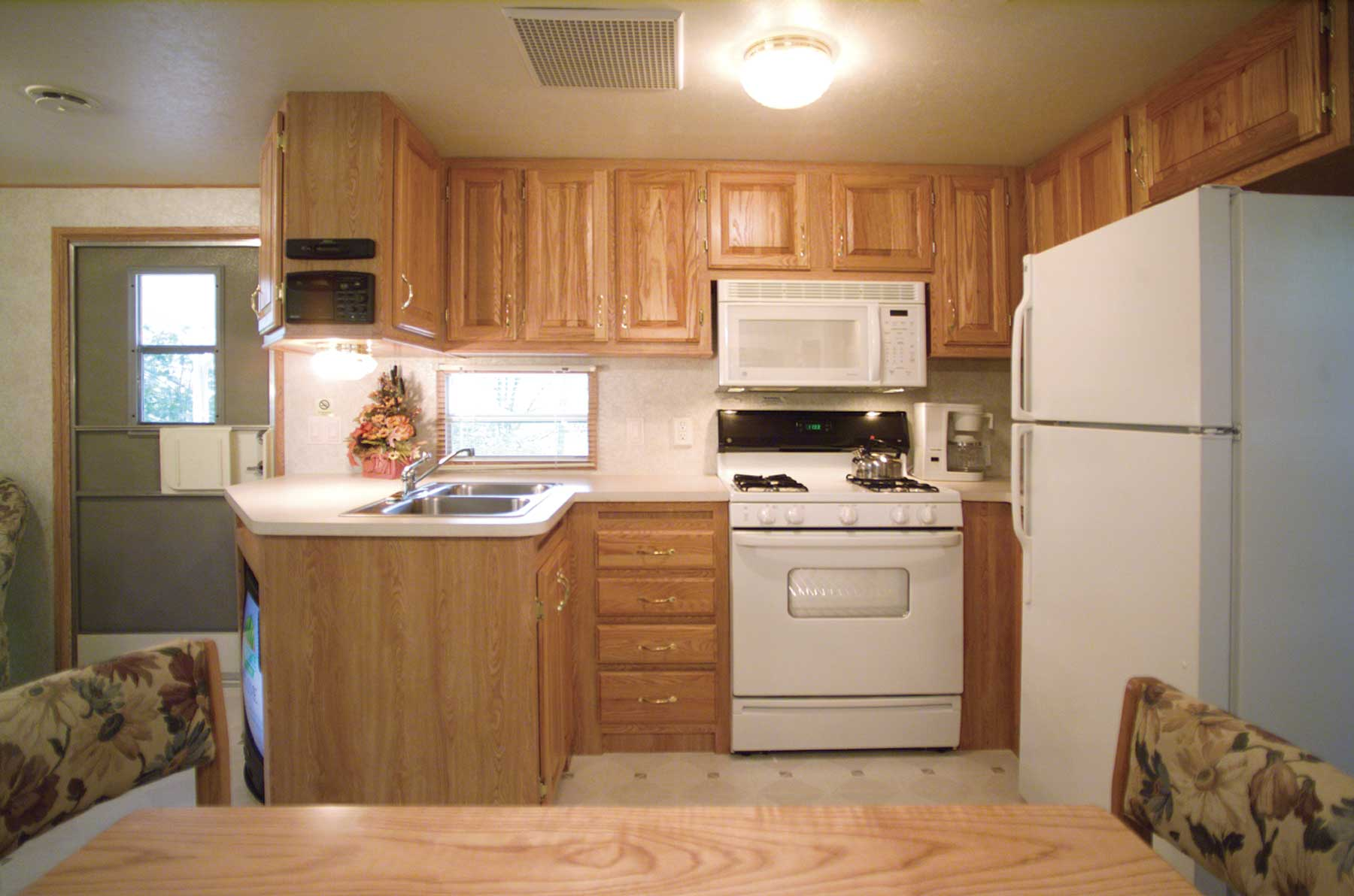Every kitchen is equipped with microwave, stove/oven & refrigerator
