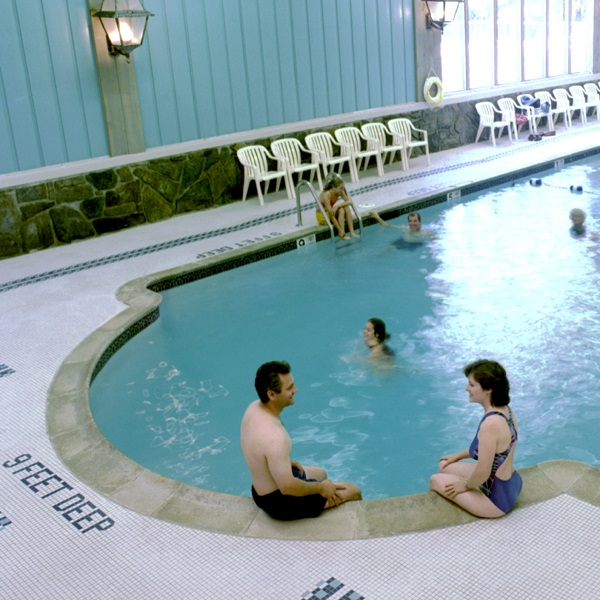 Heated indoor pool located in our east building