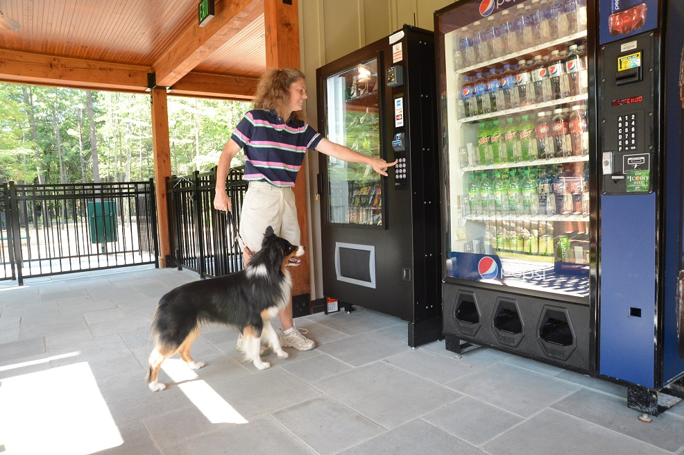 Vending Area Featuring K9 Treats