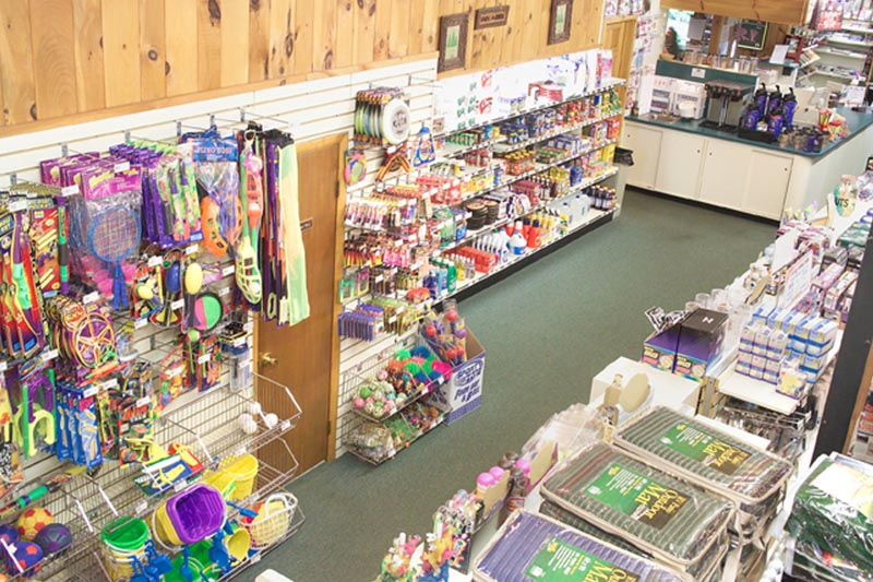 Our general store offers everything you need for your family vacation