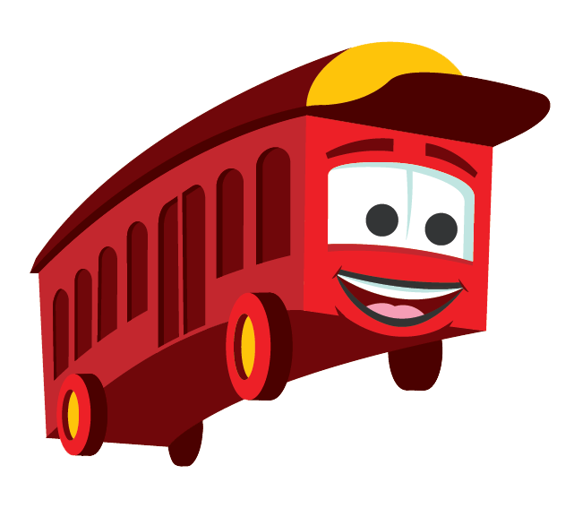 Trolley cartoon illustration