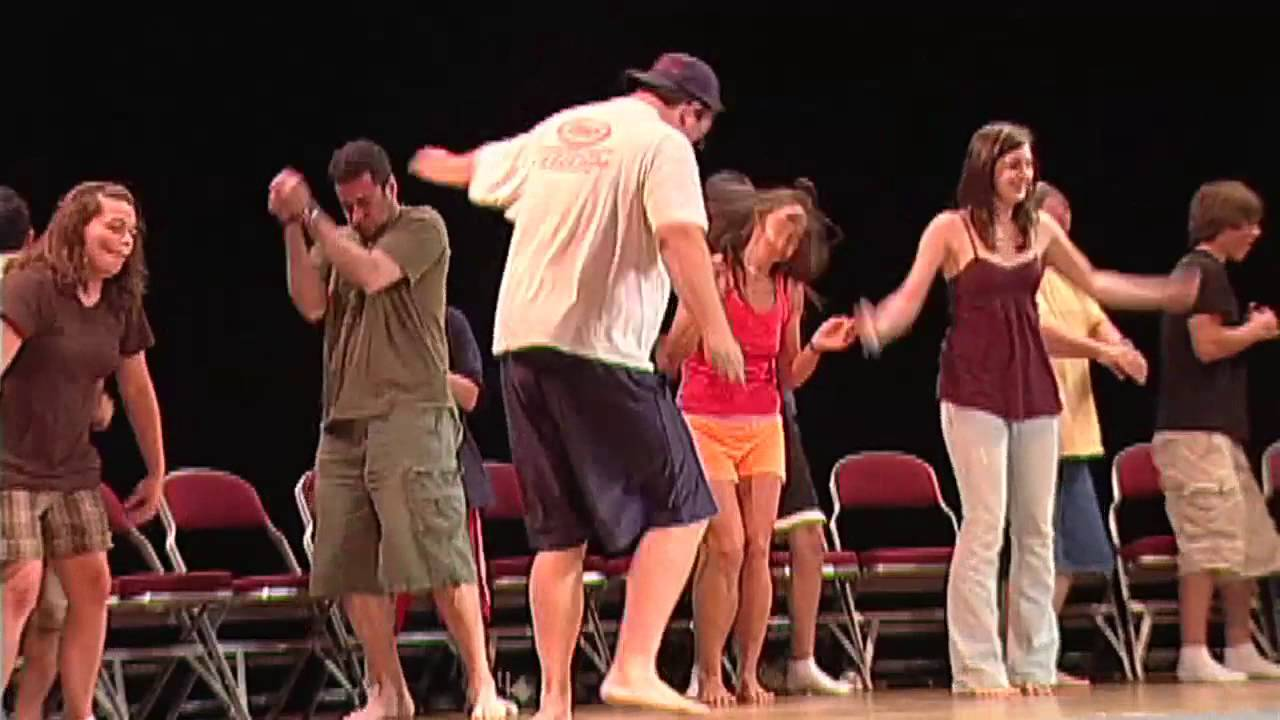 Group onstage during Hypnosis act