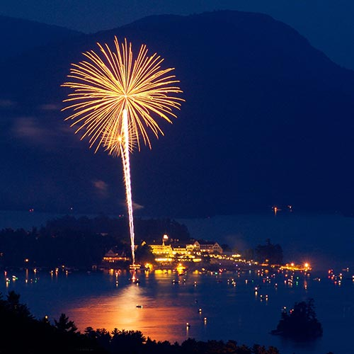 Fireworks located at Lake George