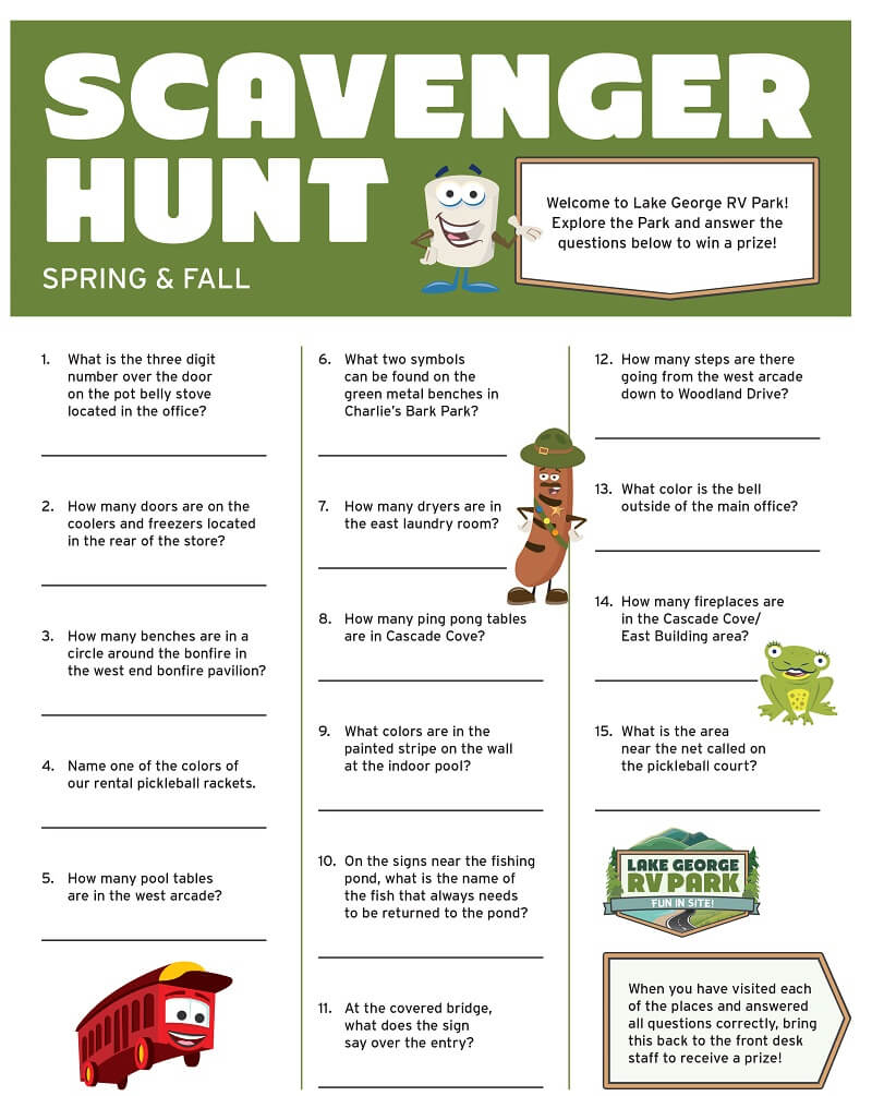 Spring & Fall Scavenger Hunt