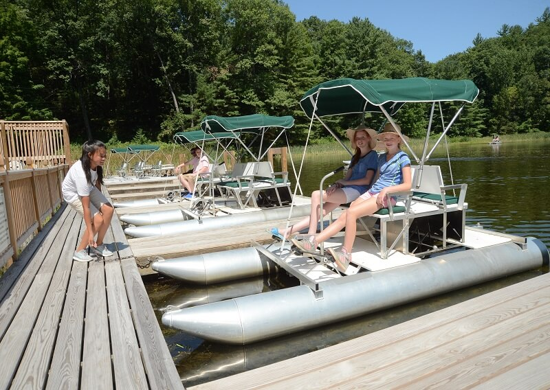 Guests on a paddleboat