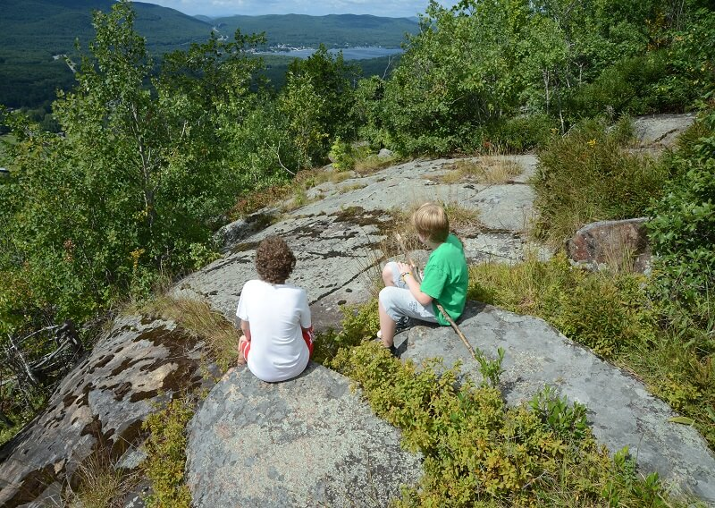 Children enjoying the view of the Adirondacks
