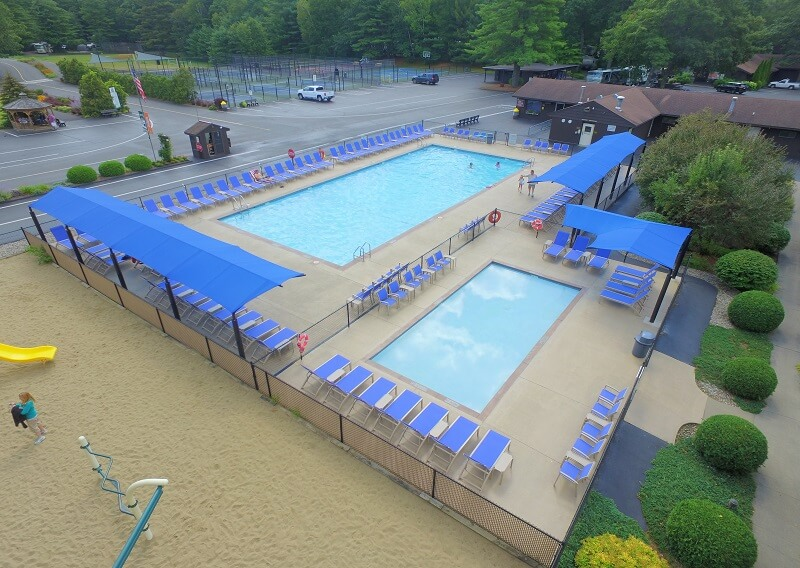 View of our west pool area