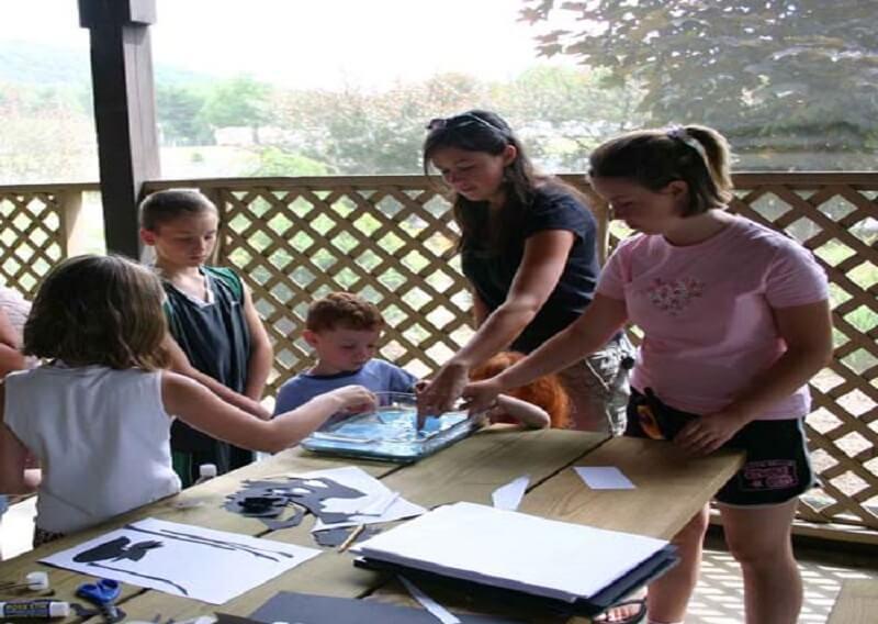 Children doing arts & crafts
