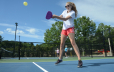 Girl playing Pickleball