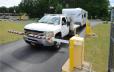 Truck pulling rv trailer