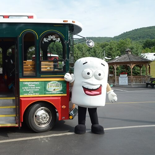 Toasty with the park trolley