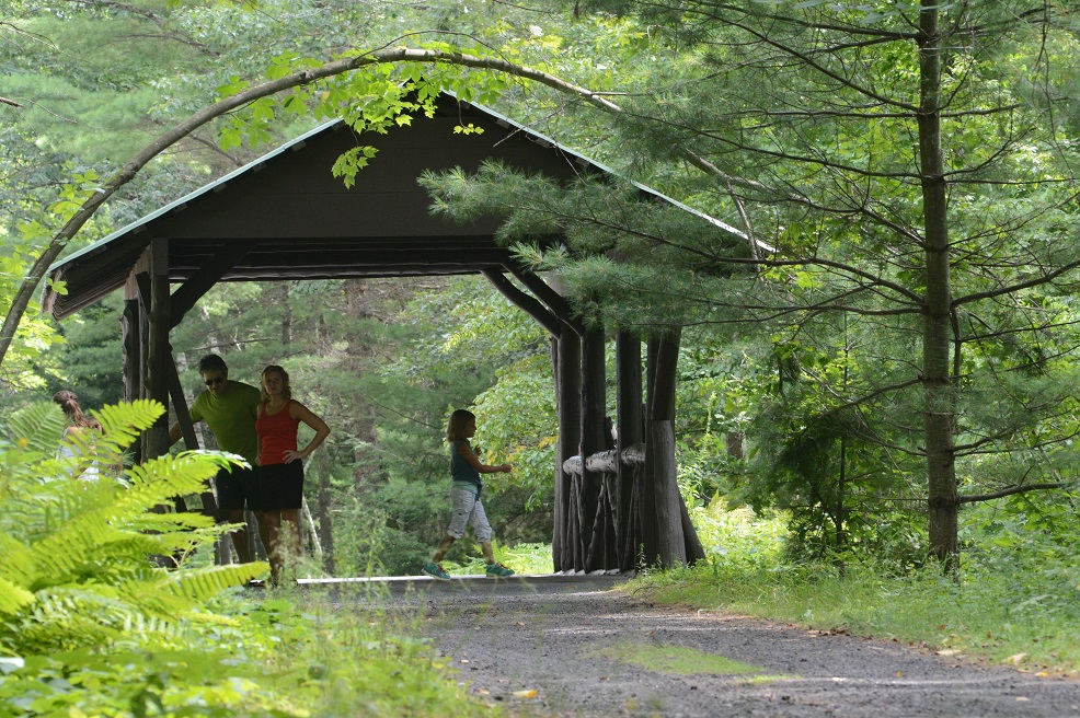 Covered bridge over Rocky Creek