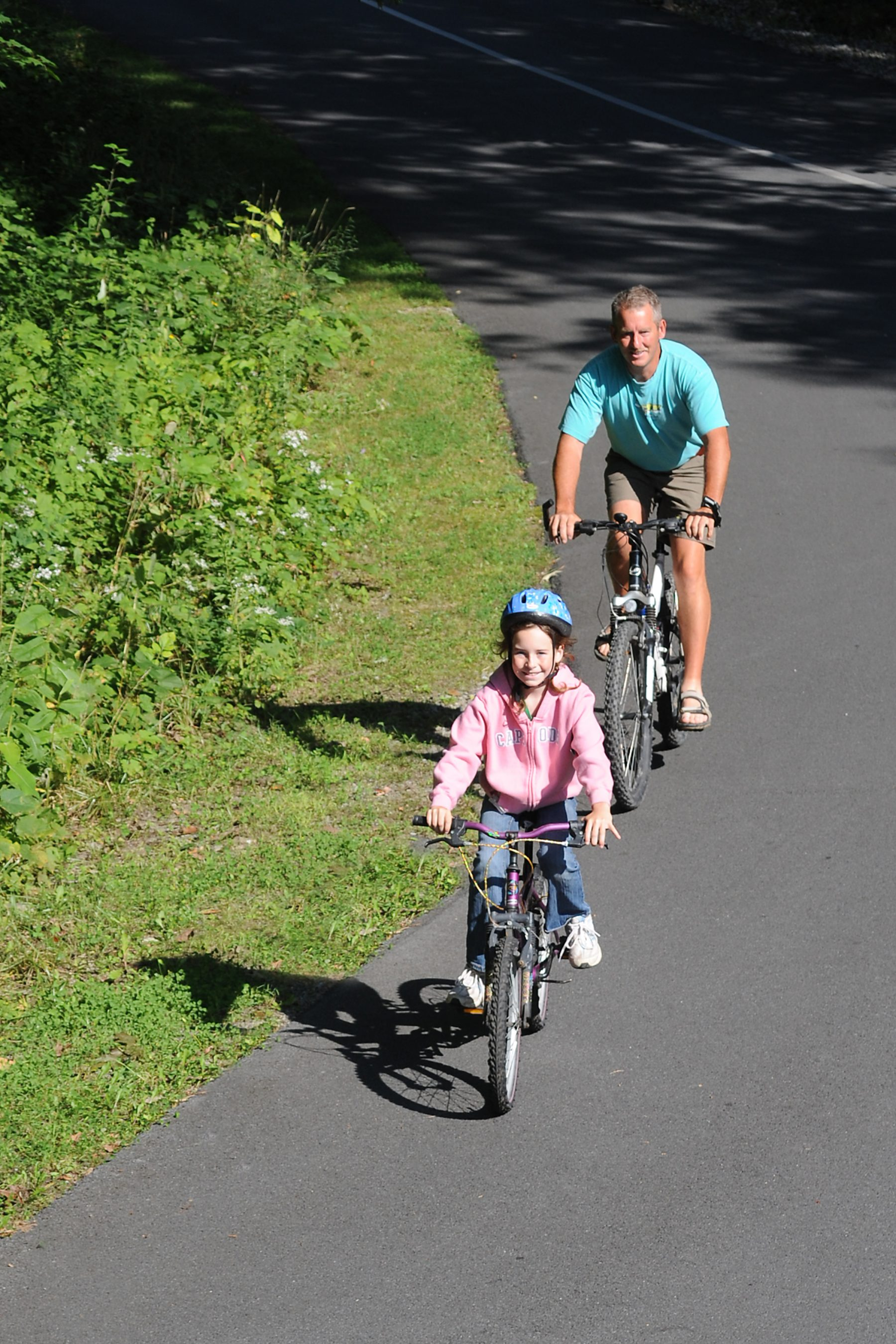 Whether young or old, you're never too old for a bike ride