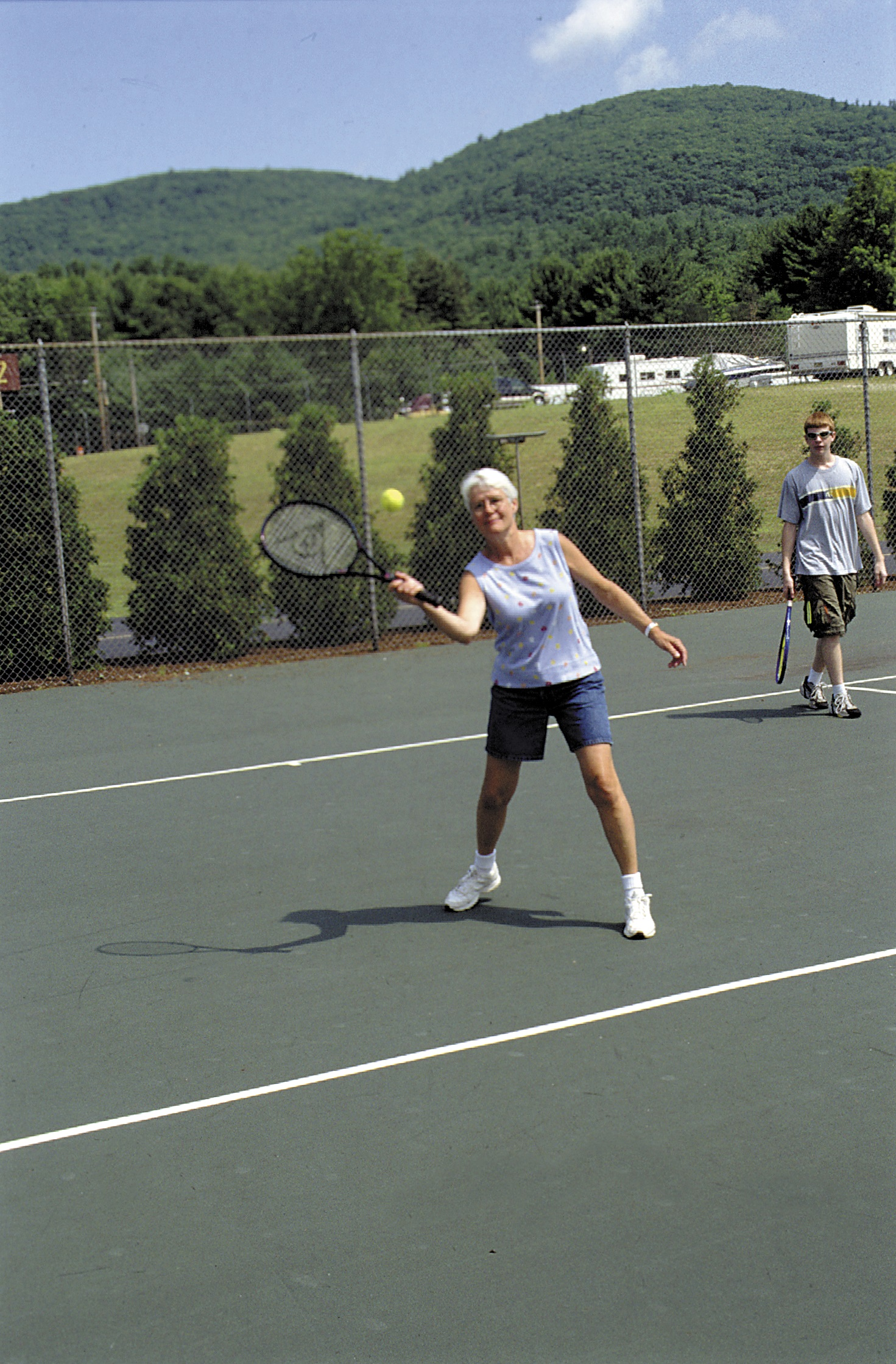 Have a family tennis match on our of our numerous tennis courts