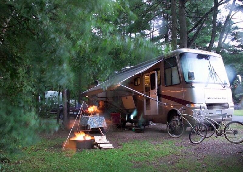 Camp site set up