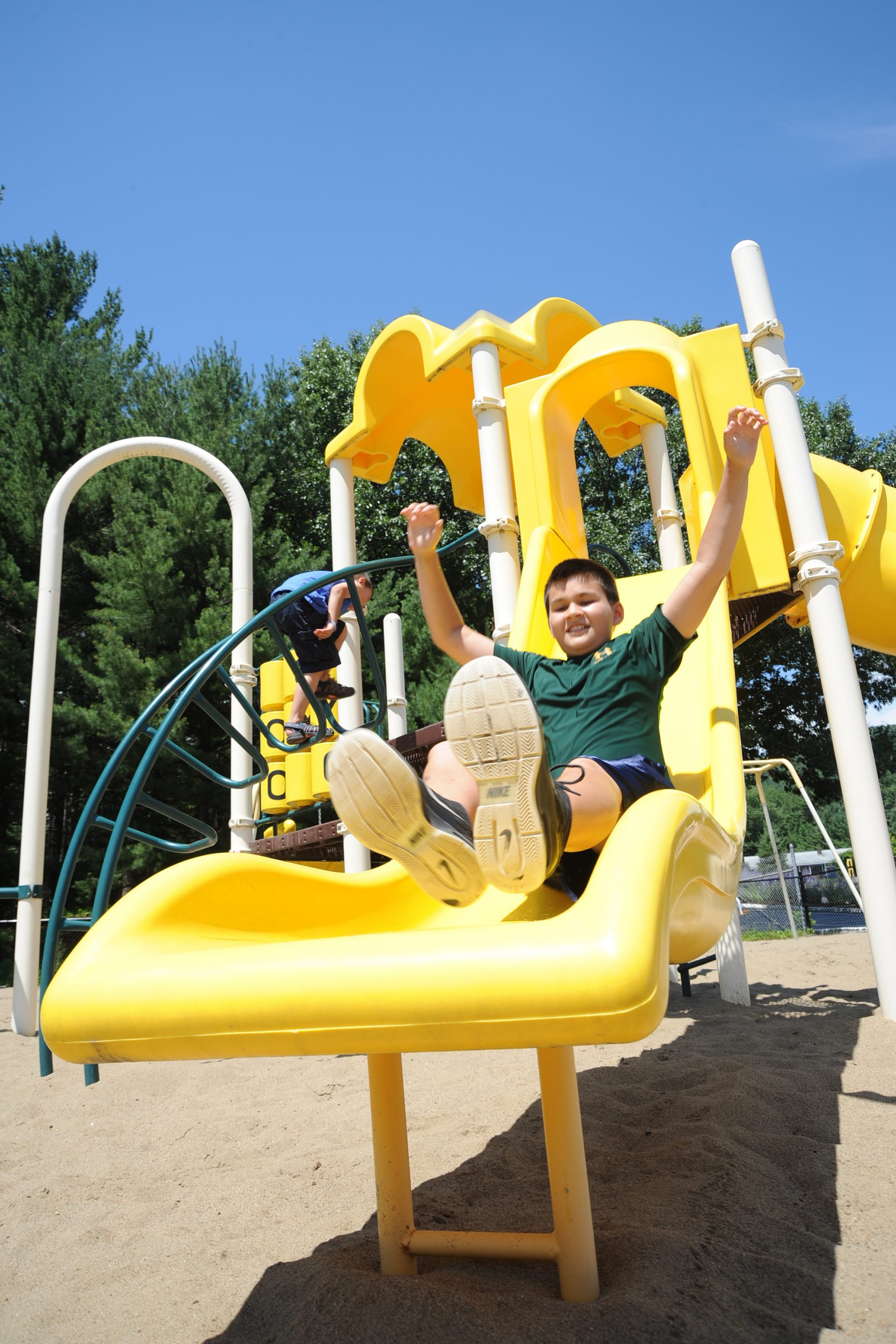 We have 4 full playgrounds located throughout the park