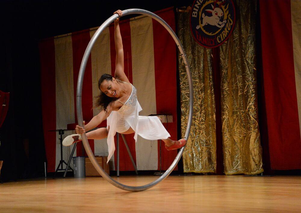 Acrobat in hoop