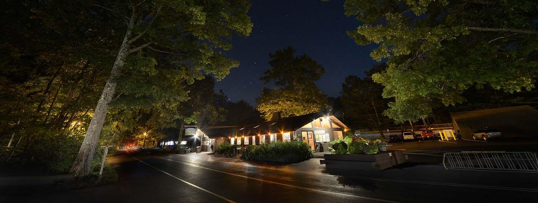 RV Entrance at night